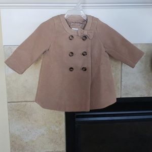 Baby Gap Tan Coat with Bow 6-12 months